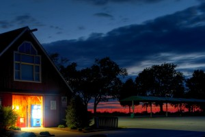 Nightfall at the Grid barn